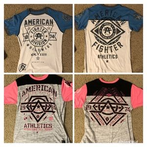 Pair of 2 Men's American Fighter shirts